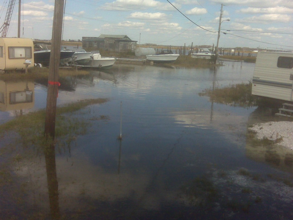 flooding at Money Island