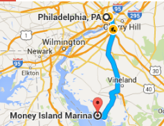Money Island is 55 miles south of Philadelphia